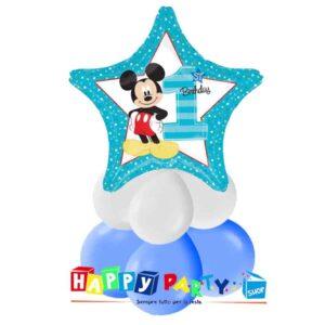 centrotavola azzurro primo compleanno bimbo topolino