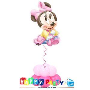 composizione 1 palloncino mylar nascita rosa minnie baby