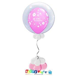 palloncini Bubble battesimo rosa