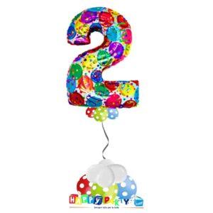 palloncini base da terra numeri singoli mylar 2 anni balloon multicolor