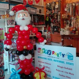 babbo natale palloncini happy party