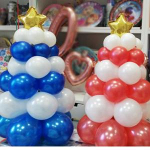 alberi di natale palloncini happy party