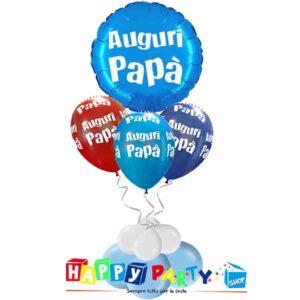composizione 3 palloncini mylar festa del papà