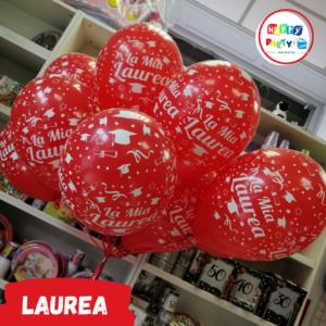 Allestimento Palloncini stampati lattice Festa di Laurea