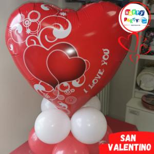 Composizione Centrotavola Palloncino cuore san valentino