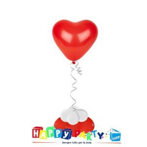 composizione 1 palloncino lattice cuore rosso